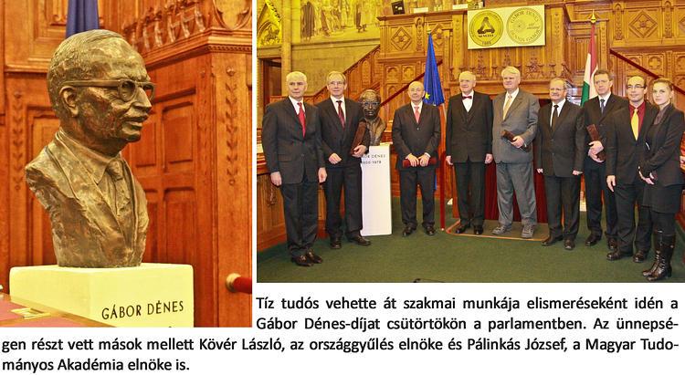Tíz tudós vehette át idén a Gábor Dénes-díjat köztük: Pavelka Tibor fizikus, a félvezető- és napelemipari  fejlesztésért