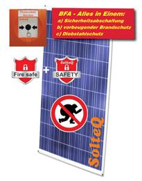 Biztonsági leválasztó és lopás elleni védelem a napelemes modulok számára