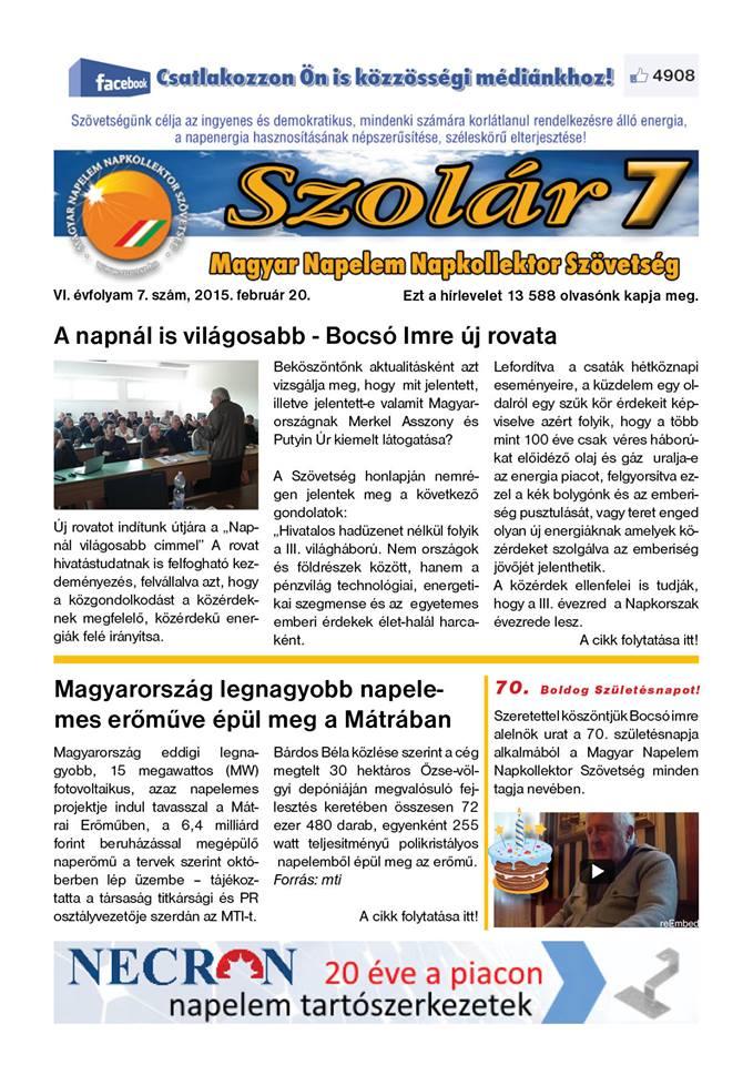 Megjelent a Szolár7